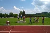 Vojtěch Chroust skončil ve skoku vysokém na třetím místě.