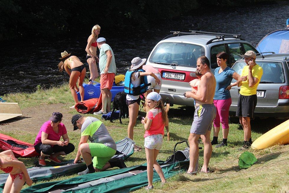 Otava a tábořiště v Sušici.