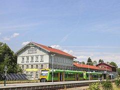 Hraniční nádraží Bayerisch Eisenstein - Železná Ruda-Alžbětín
