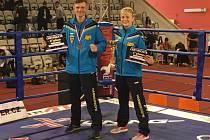 WAKO K-1 European Cup 2016: Luboš Vanka a Nikola Hammerová z kickboxerského klubu Hammer's Gym