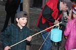 Lampionový průvod a ohňová show v Klatovech