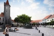 Vizualizace návrhu rekonstrukce Mírového náměstí kterou podporují iniciátoři petiční akce.