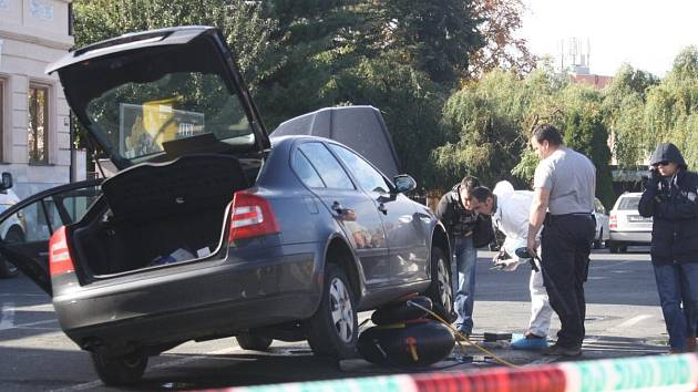 Policie uzavřela parkoviště v Klatovech