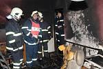 Středeční požár v panelovém domě v Sušici