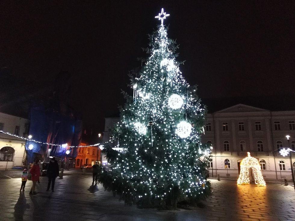 Vánoční výzdoba v Horažďovicích.