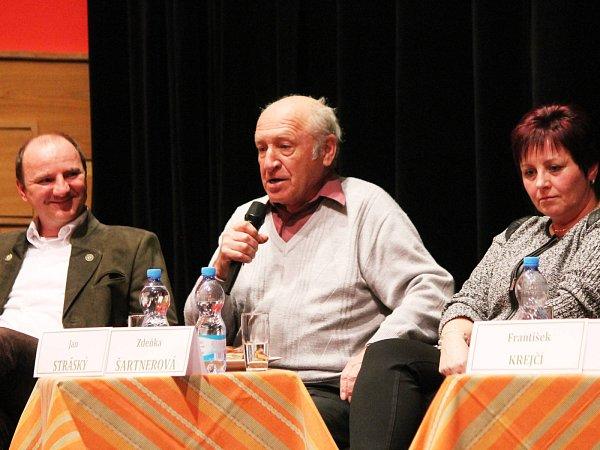 Zdeňka Šartnerová, Jan Stráský a Jiří Mánek