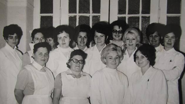 Klatovská nemocnice v 70. - 80. letech.