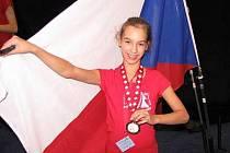 Mažoretka Michaela Lávičková z Lub vybojovala v dětské kategorii na ME ve Švýcarsku šesté místo.