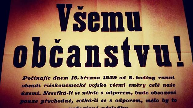 Výstava Osudový březen 1939 v kině v Klatovech