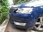 Vozidla účastníků nehody v Soběticích.