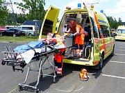Záchranáři vyjíždějí v létě často k úrazům.