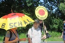 Z protestní akce proti úložišti jaderných odpadů.