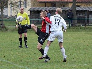 1. A třída 2017/2018: Žichovice (bílé dresy) - Bolevec 3:0.