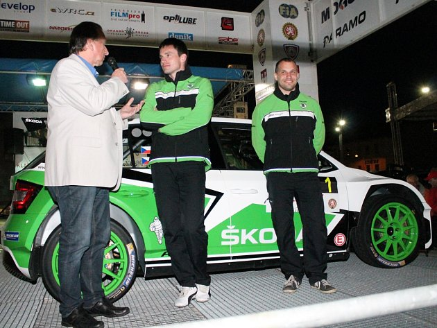 Předstartovní show 50. Rallye Šumava Klatovy a 24. Historic Vltava Rallye.