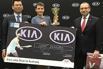 Lukáš Janoušek vyhrál turnaj Kia Lucky Drive to Australia a pojede na Australian Open.