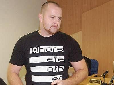 David Hás u klatovského soudu