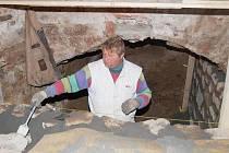 Opravy klatovských katakomb