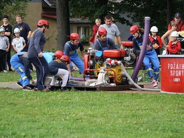 Dětská hasičská soutěž v Lubech