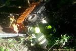 Nehoda muže s počišťovacím strojem.