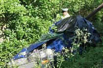 Tragická dopravní nehoda u obce Defurovy Lažany.