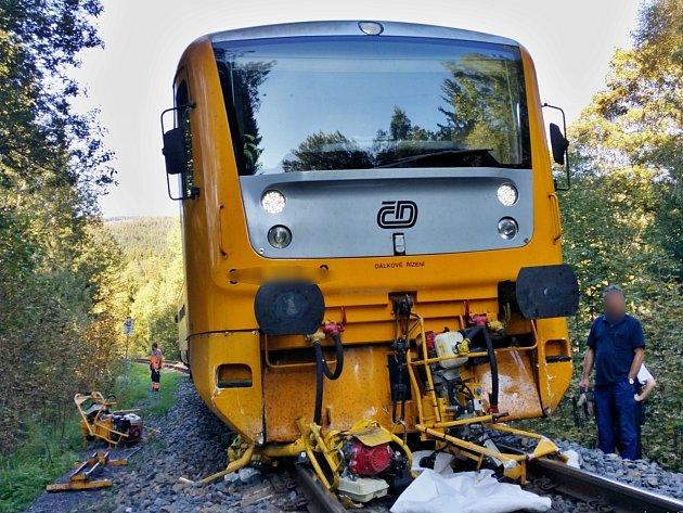 Nehoda vlaku u Hojsovy Stráže.