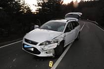 Nehoda u Bojanovic. Foto: PČR