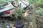Nehoda auta u Ujčína.