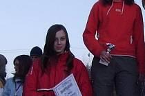 STŘÍBRO. Železnorudské medailistky Romana Hánová a Michala Hašová (zleva).
