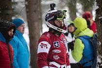Václav Kosnar (na archivním snímku z lednového závodu v Rakousku) obsadil v Petrohradu 27. místo.