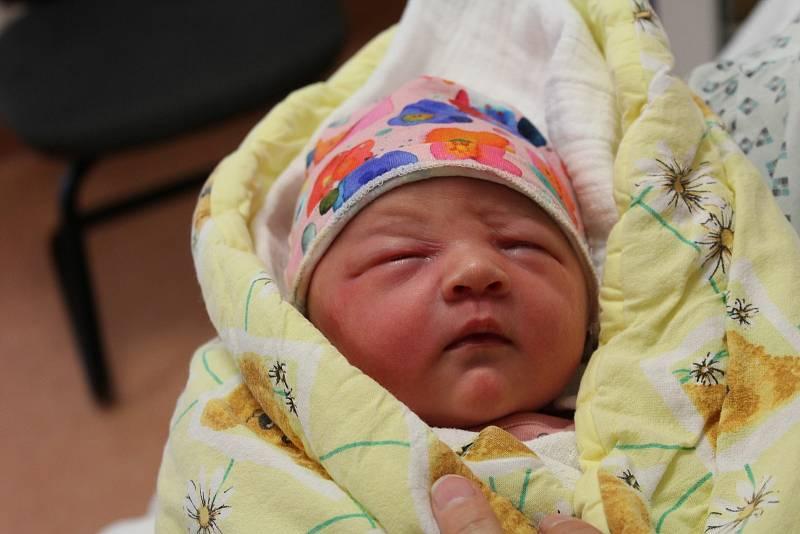 Sára Lovasová zKašperských Hor se narodila vklatovské porodnici 6. října ve 2:26 hodin. Maminka Eva a tatínek Igor věděli dopředu, že jejich prvorozeným miminkem smírami 3200 g, 51 cm bude holčička.