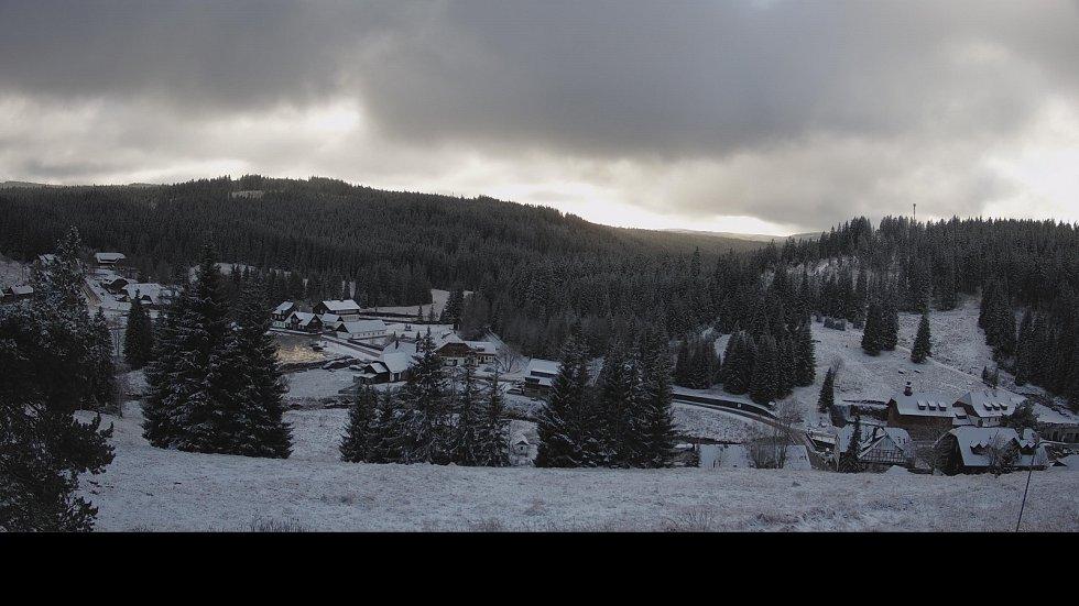 Páteční sníh na Modravě.