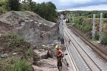 Rekonstrukce železniční stanice Pačejov-nádraží a trati v okolí.