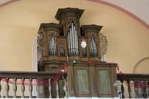 Varhany v němčickém kostele Nanebevzetí Panny Marie