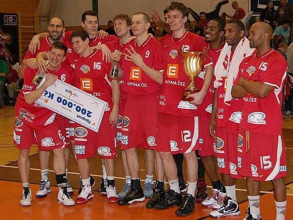 Finále českého poháru mužů v basketbalu Nový Jičín - Nymburk