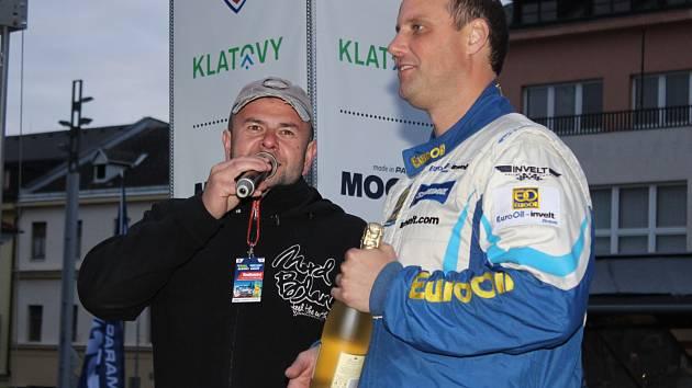 Václav Pech v cíli Rallye Šumava Klatovy 2017