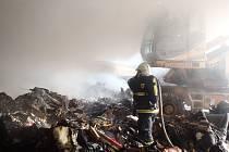 Požár v Horažďovicích.