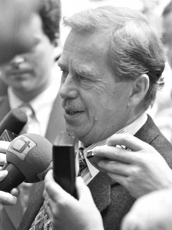 Prezident Václav Havel byl na Klatovsku v roce 1995 a 2002
