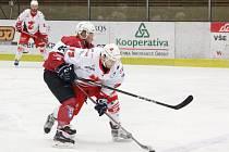 2. liga 2017/2018 - play-off: Klatovy (červené dresy) - Žďár nad Sázavou 5:6sn