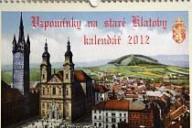 Kalendář ukazuje Klatovy na starých pohlednicích.