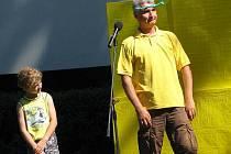 Představení Michala Nesvatby v klatovském letním kině