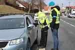 Policejní kontroly v Čachrově.