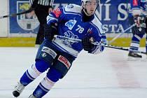 Jan Hanzl rozhodl utkání 14. kola II. NHL. Kolín porazil Žďár nad Sázavou 2:1-