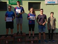 Kolínští střelci Lukáš Novotný skončil první, Denisa Vadinská třetí a Jiří Mejda čtvrtý.
