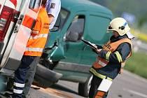 Při dopravní nehodě u Jestřabí Lhoty došlo ke zranění. 30.4. 2009