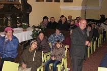 Slavnostní zakončení letošních prací na kostele Nanebevzetí Panny Marie ve Lstiboři, listopad 2016