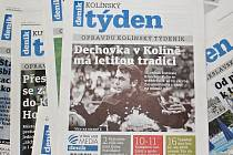 Titulní strana dvacátého třetího čísla týdeníku Kolínský týden.