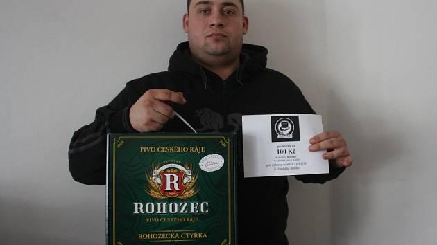 Miroslav Pros  získal za vítězství v druhém kole karton piv značky Rohozec a poukaz v hodnotě 100,-Kč do kolínské kavárny Kristián.