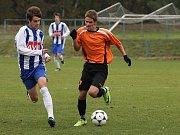 Z utkání staršího dorostu FK Kolín - Čáslav (0:0).
