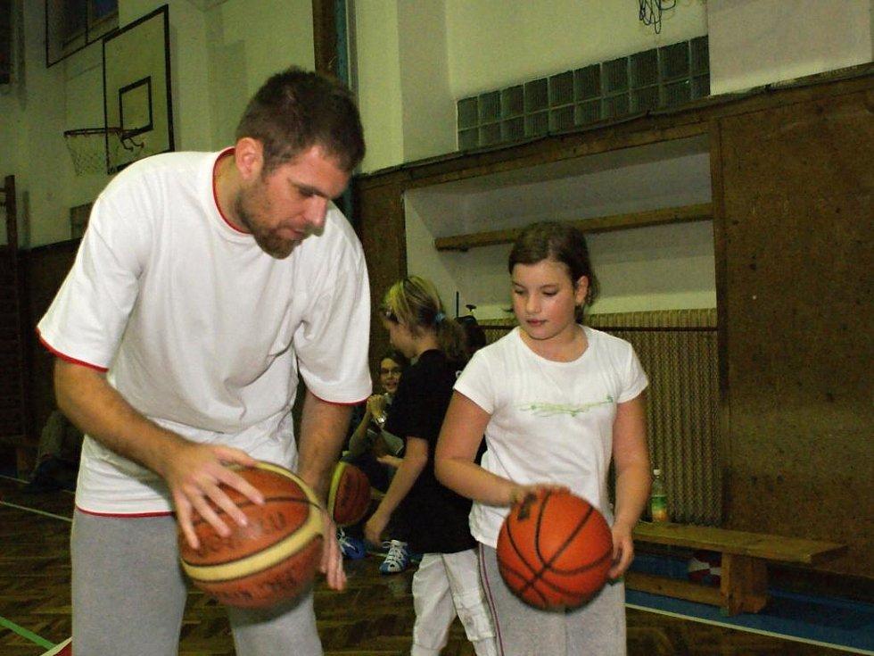 David Machač na tréninku malých capartů.