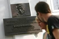 Pamětní deska Václava Morávka v Kolíně